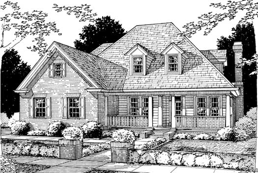 Country Style Home Design Plan: 11-163