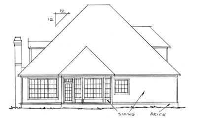 Rear Elevation Plan: 11-163