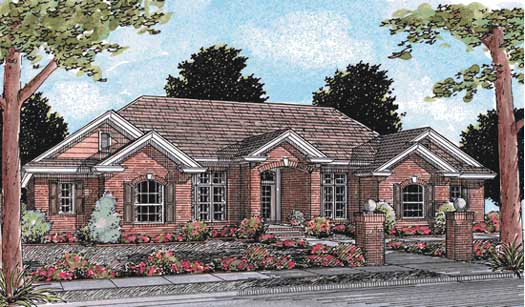 Traditional Style Home Design Plan: 11-164