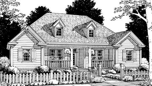 Traditional Style Home Design Plan: 11-166