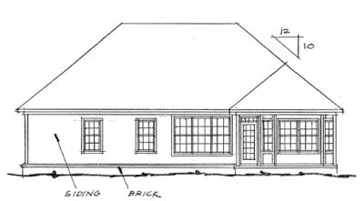 Rear Elevation Plan: 11-166