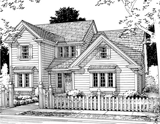 Traditional Style Floor Plans Plan: 11-167