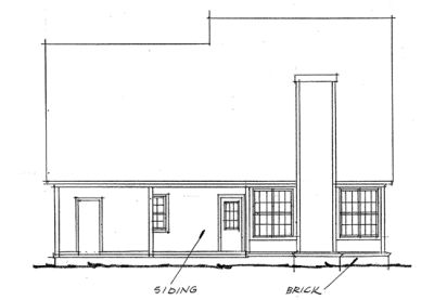 Rear Elevation Plan: 11-167