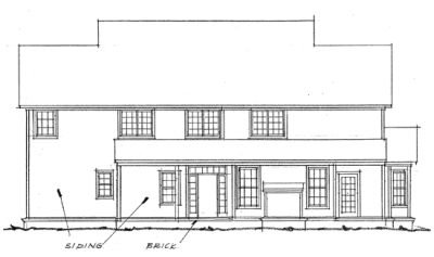 Rear Elevation Plan: 11-168