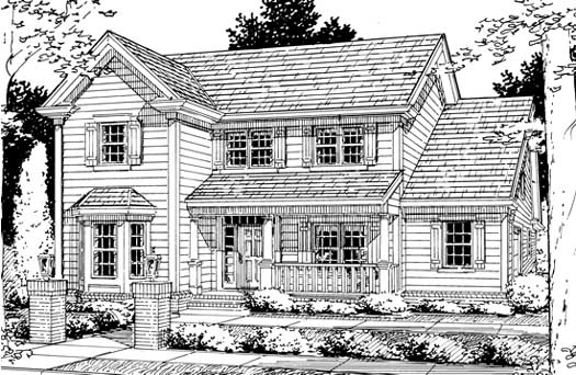 Country Style Home Design Plan: 11-169