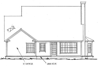 Rear Elevation Plan: 11-169