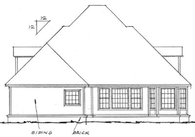 Rear Elevations Plan:11-170