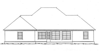 Rear Elevation Plan: 11-171