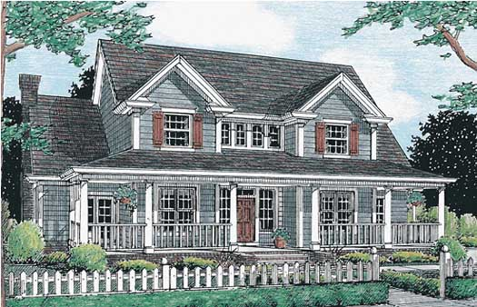 Country Style House Plans Plan: 11-172