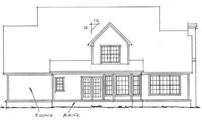 Rear Elevation Plan: 11-172