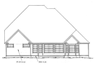 Rear Elevation Plan: 11-173