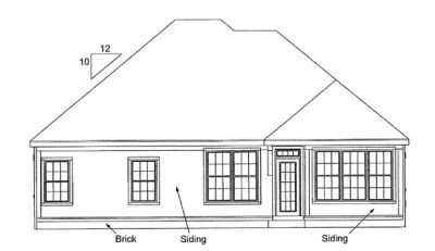 Rear Elevation Plan: 11-174