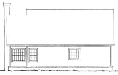 Rear Elevation Plan: 11-175