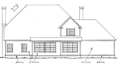 Rear Elevation Plan: 11-176