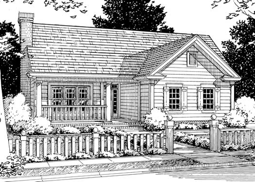 Traditional Style Home Design Plan: 11-177