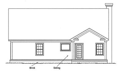 Rear Elevation Plan: 11-177