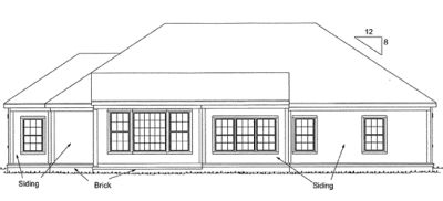Rear Elevation Plan: 11-178