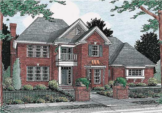 Colonial Style Floor Plans Plan: 11-179