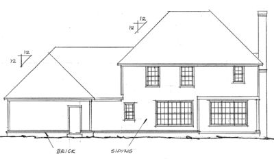 Rear Elevation Plan: 11-179