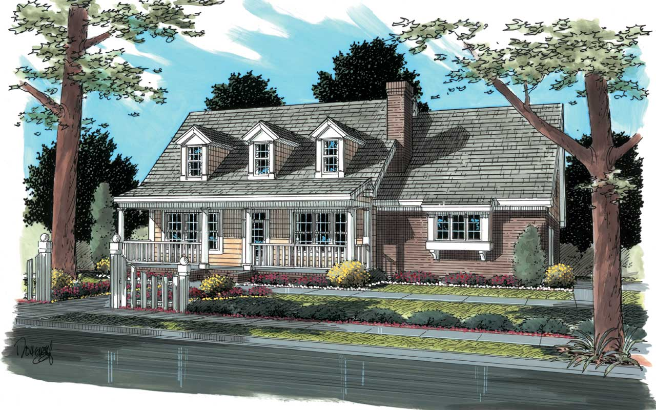 Country Style Home Design Plan: 11-180