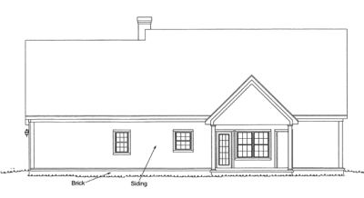Rear Elevation Plan: 11-180