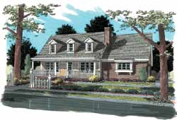 Country Style Floor Plans Plan: 11-180