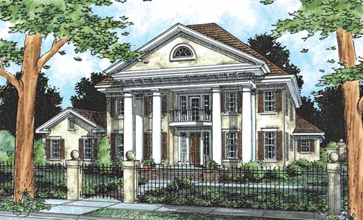 Georgian Style House Plans Plan: 11-181