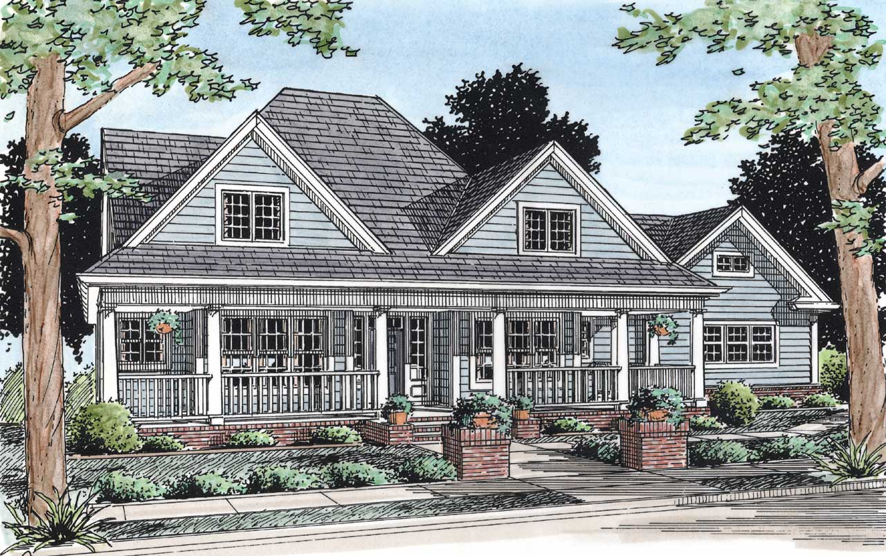 Farm Style House Plans Plan: 11-182