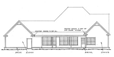 Rear Elevation Plan: 11-182