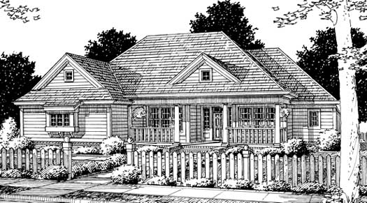 Country Style Home Design Plan: 11-183