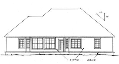 Rear Elevation Plan: 11-183