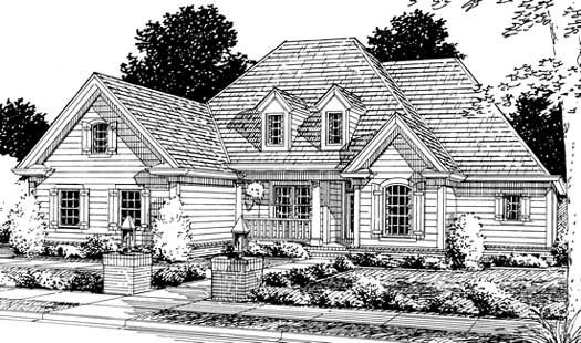 Traditional Style Home Design Plan: 11-184