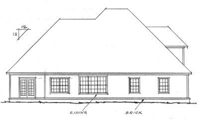 Rear Elevation Plan: 11-184
