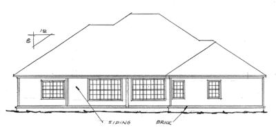 Rear Elevation Plan: 11-185