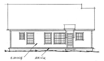 Rear Elevation Plan: 11-186