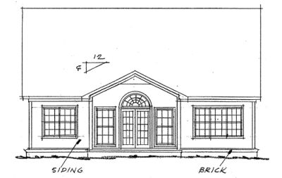 Rear Elevation Plan: 11-187