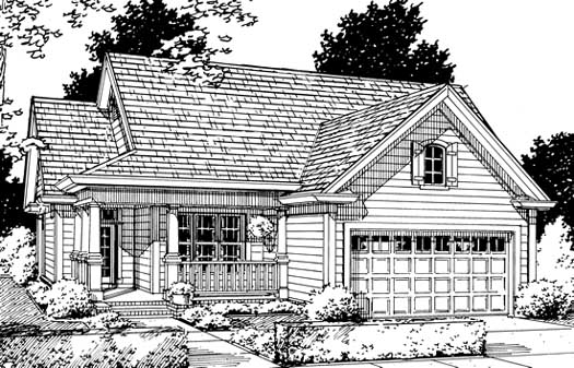 Ranch Style Home Design Plan: 11-188