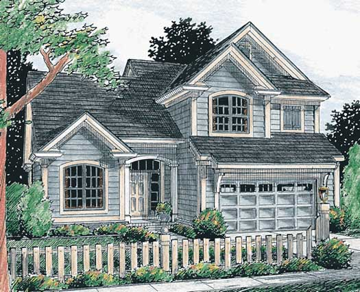 Traditional Style Home Design Plan: 11-189