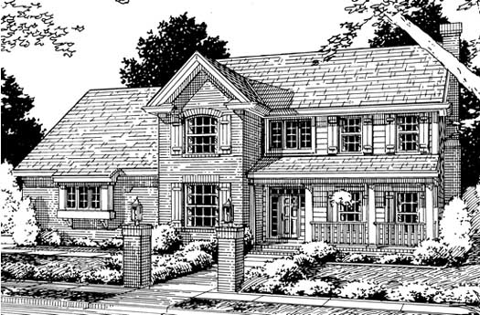Country Style Floor Plans Plan: 11-190