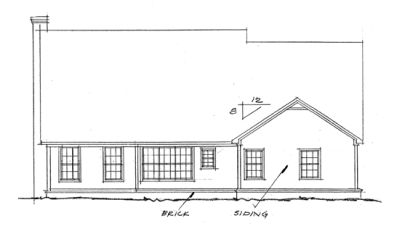 Rear Elevation Plan: 11-190