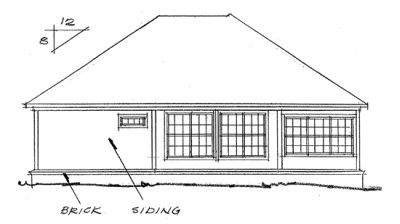 Rear Elevation Plan: 11-191