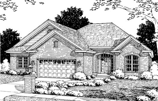 Traditional Style Home Design Plan: 11-192