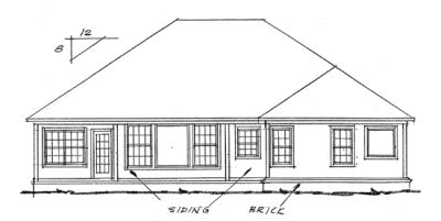 Rear Elevation Plan: 11-192