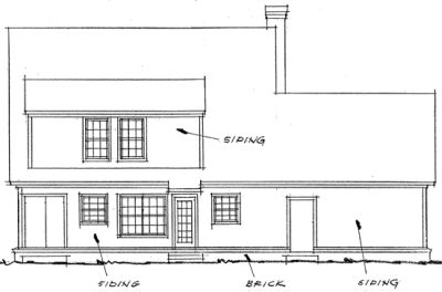 Rear Elevation Plan: 11-193