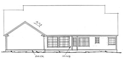 Rear Elevation Plan: 11-194