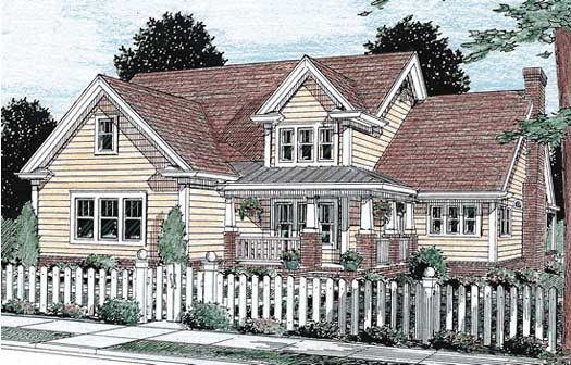 Traditional Style Home Design Plan: 11-195