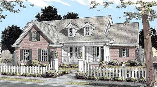 Traditional Style Floor Plans Plan: 11-196
