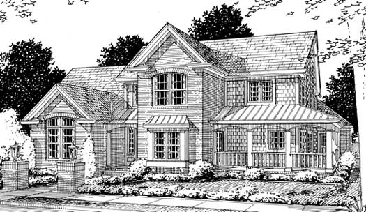 Country Style Home Design Plan: 11-197