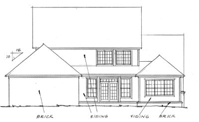 Rear Elevation Plan: 11-197