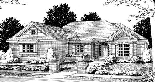 Traditional Style Home Design Plan: 11-199